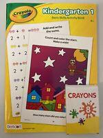 New Crayola Kindergarten 1 Basic Skills Activity Book & 8 Crayons: Add & Write