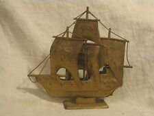 vintage metal ship Santa Maria decor display ornate nautical