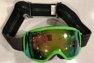 Smith Optics Grom Goggles Chromapop Everyday Green Mirror Ski Snowboard Goggles