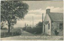 More details for post office & church of duffus, near elgin - moray postcard - yeadon (p2415)