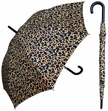 """48"""" Leopard Print Auto-Open Umbrella - RainStoppers Rain/Sun UV Fashion"""
