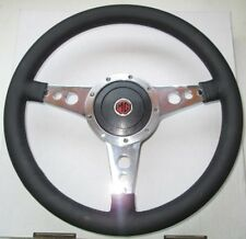 "New 13"" Leather Steering Wheel & Adaptor for MG Midget 1970-77  Moto-Lita"