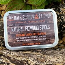 100G ALL NATURAL FATWOOD FIRE STARTER HIGH RESIN CONTENT BUSHCRAFT SURVIVAL