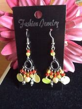Handmade Acrylic Chandelier Costume Earrings