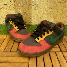 """Nike Dunk Low 6.0 """"Rasta""""- Mens Size 9 - 314142-233 Pre-Owned"""