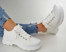 Damen Schuhe Sneaker Weiß Low Halbschuhe Sportschuhe Ballerina Freizeitschuhe