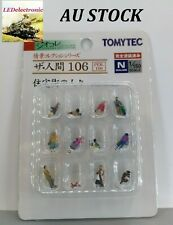 TOMYTEC N Scale Diorama Collection #106 Pedestrians with baby/dogs,model railway