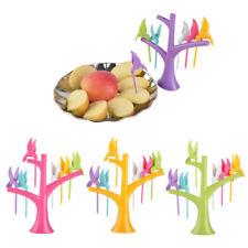 Creative On The Tree Birds Plastic Dessert Cake Fruit Picks Forks Decoration