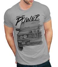 T-Shirt Herren Gr. L hellgrau * BMW M Power Vintage * Baumwollmischung
