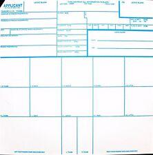 5 Fingerprint Cards - Official FBI Form FD258 - Applicants / Background