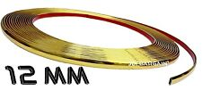 12mm x 3M Gold Moulding Trim Car Protect Adhesive Strip Styling Decoration Self