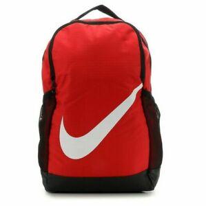 NWT NIKE BRASILIA YOUTH BACKPACK Travel Gym School Bag UNIVERSITY RED BA6029-657