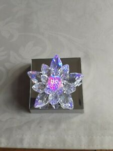 Swarovski Crystal Small Lilly Comes With Mirrored Display Lightbox