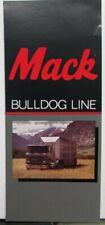 1986 Mack Trucks BullDog Line Features Sales Brochure Original