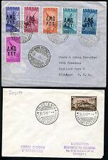 TRIEST A 1947-1950 fünf gute FDC SASSONE 1100€(E7862b