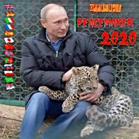 "2020 VLADIMIR PUTIN ""OFFICIAL PEACEMAKER 2020"" NEW WALL CALENDAR ORIGINAL"