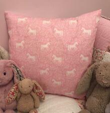 "Beautiful Girls Pink Unicorn Nordic 16"" Cushion Cover Shabby Chic"