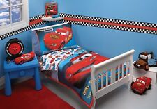 NEW DISNEY PIXAR THE WORLD OF CARS TAKING THE RACE TODDLER BED SET 4 PC