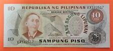 10 Pesos banknote Philippines Apolinario Mabini serial#VX142517