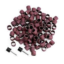 "100pcs 1/2"" 80Grit Sander Paper Sanding Bands Polishing Rotary Tool E&F"