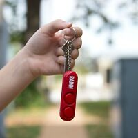 SABRE Personal Alarm with Keychain Ring - Loud 120 db Dual Siren Alarm - RED