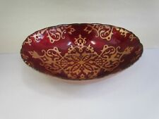 Red & Gold Decorative Console / Candy Bowl