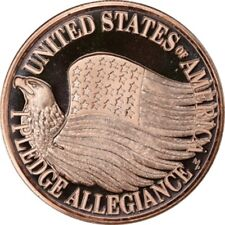 Lot of (20) PLEDGE OF ALLEGIANCE  1 OZ Ounce Of Copper Bullion ROUNDS  Lot C122