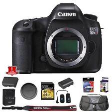 Canon EOS 5DSR DSLR Camera Body with 64GB Memory Card Bag Remote + More