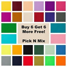 "48 Colours Super Soft Acrylic Craft Felt 9"" Squares BUY 6 GET 6 MORE FREE!!"