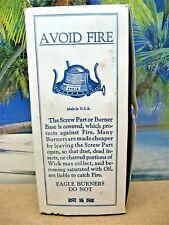 BOX ONLY NO 2 EAGLE BURNER KEROSENE OIL LAMP RISDON MFG CO DANBURY CT USA  BOX