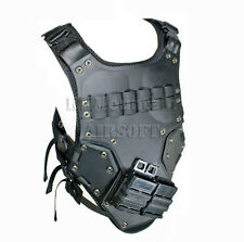 Tactical Body Armor DS Vest with Plastic Pad & Pouch / Black (KHM Airsoft)