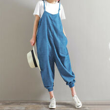 8d87baf2f88 UK 10-24 Women Harem Playsuits Strap Loose Trousers Dungaree Baggy Jumpsuits