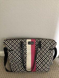 EUC Kate Spade diaper bag tote Pink White Black