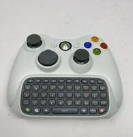Custom Microsoft Xbox 360 WHITE/BLACK Controller w/ Chatpad
