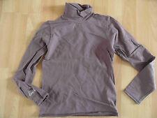 CHIPIE schönes Shirt mit hohem Kragen mauv Strass Hund Gr. 10 J /140 TOP (KJ814)