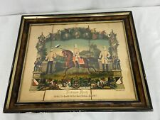 Vintage German Army Named Soldiers Framed Certificate