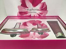 EUPHORIA Perfume CALVIN KLEIN GIFT SET EDP SPRAY 3.4 & 1.0 OZ+ LOTION NEW IN BOX