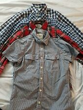 Lot of 4 Men's Abercrombie & Fitch Long Sleeve MUSCLE Button Shirt Medium