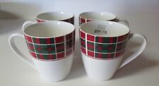 Lenox Vintage Plaid Set of 4 Mugs 12 Oz  NIB SKU#870678