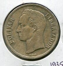 """1935 Venezuela """"FUERTE"""" 5 Bolivares Silver Coin - 25 Grams 90% Silver"""