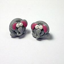 cute elephant stud earrings emo