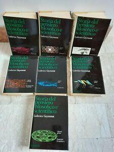 STORIA DEL PENSIERO FILOSOFICO e SCIENTIFICO, 7 volumi GEYMONAT ediz. 1977