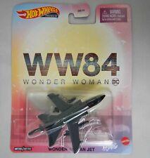 HotWheels Wonder Woman Jet WW84 Movie DC Comics Premium NEW DieCast Mattel DMC55
