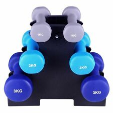 Everfit Dumbbell Weights Rack Set 6 Piece 12kg Home Exercise Fitness Gym Barbell