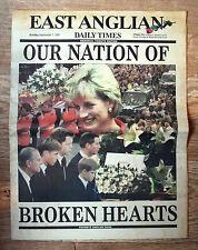 Old Newspaper - Princess Diana - East Anglian Daily Times - 7 September 1997