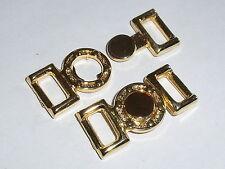 2 Stück Gürtelschnallen Schließen Hakenverschlüsse  1,0 cm  gold rostfrei 0019.1