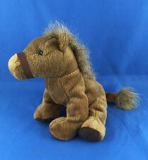 "NICE Russ Berrie Horse Plush Stuffed Animal 7"" Silky Rare Brown Pony # 3481 Toy"