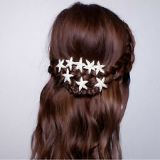 Wedding Bridal Hairpin Jewelry Starfish Crystal Rhinestone Hair Clip Pins