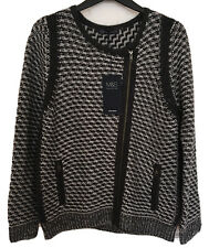 MARKS & SPENCER  KNITTED FRONT ZIP CARDIGAN /JACKET WITH WOOL SIZE 16 BNWT