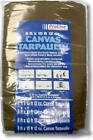 8 x 10-Ft. Tan & Brown Canvas Tarp
